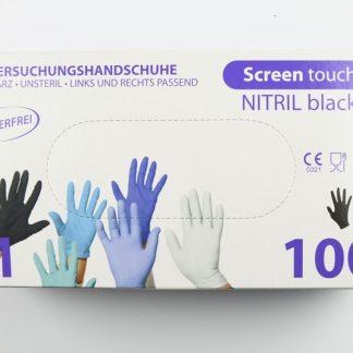 sorte nitril hansker